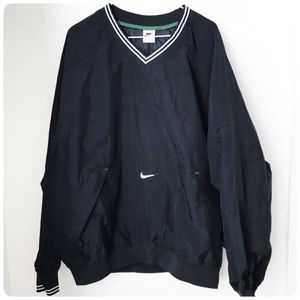 Mens nike black v-neck windbreaker XL